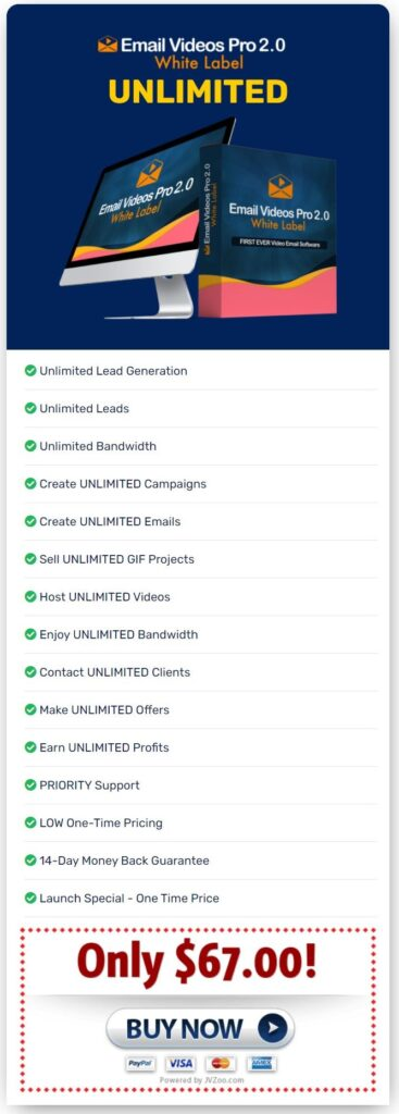 Email Videos Pro 2.0 Review Email Videos Pro 2.0 Unlimited upgrade 1